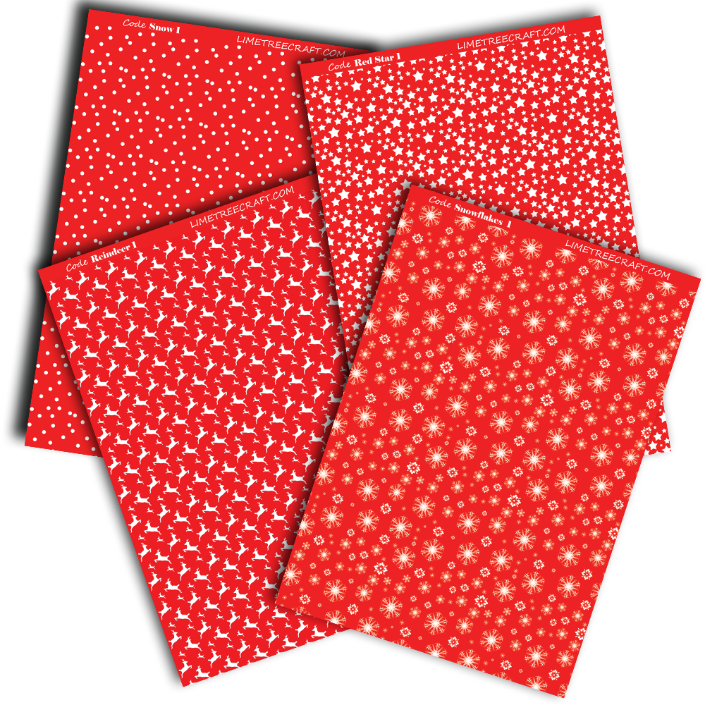 Red Card 10 Sheets Vanguard 300gsm Christmas